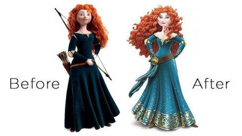 Merida Disneyfied