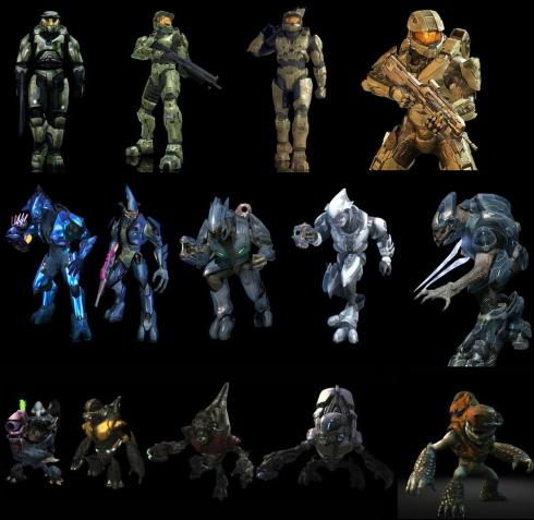Evolution of Halo character designs